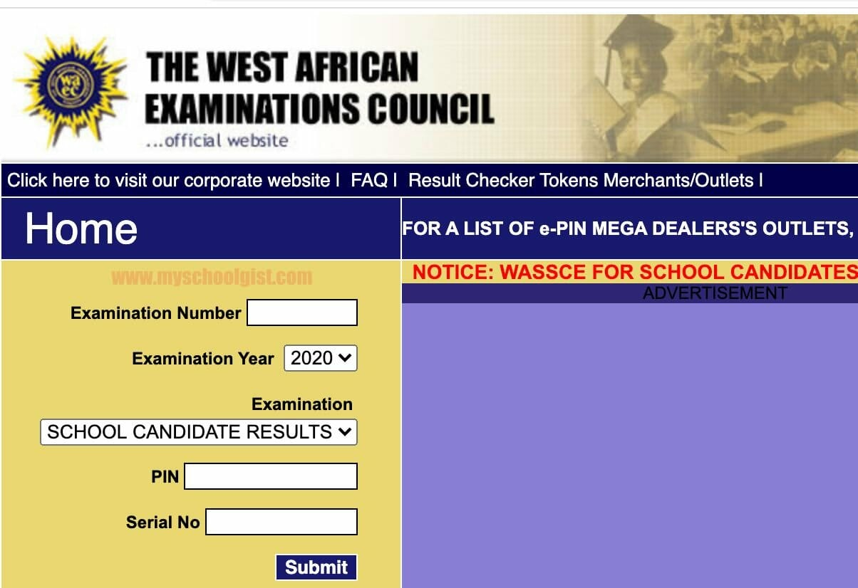 2020 SSCE Results Checking